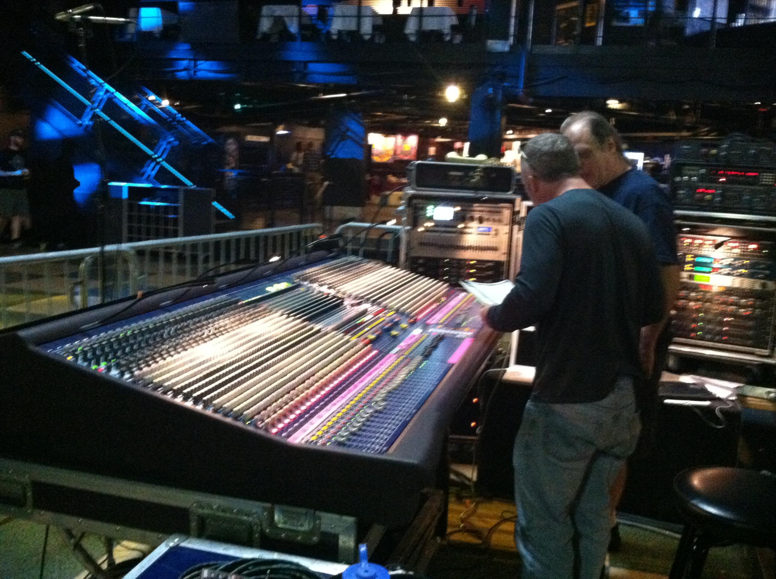 Conference with the Sound Tech for First Ave Greg